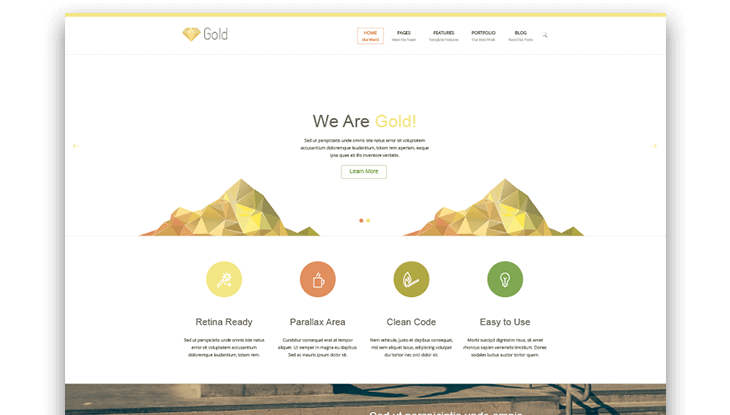 gold html template