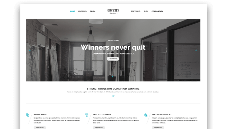 solid html template